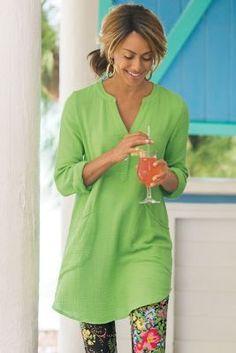 Santorini Gauze Pullover from Soft Surroundings 74.95