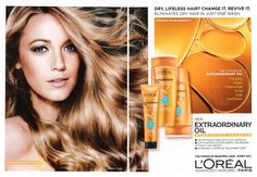 Blake Lively - L'Oreal Extraordinary Oil