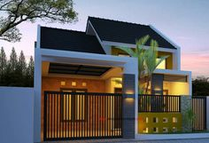 Modern Minimalist House Picture most popular inspiration! -The house is a palace for every Kelaurga, will certainly be a cool place f. Small House Design, Dream Home Design, Home Design Plans, Modern House Design, Rm 1, Modern Minimalist House, Minimalist Decor, Facade House, House Front
