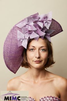 Not a Wallflower - Catherine Storm's entry in the 2019 Melbourne International Millinery Competition (MIMC). Fascinator, Headpiece, Spring Racing, Melbourne, Special Occasion, Competition, Elegant, Unique, Color