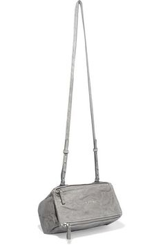 785caa79813 Gray washed-leather (Calf) Detachable shoulder strap Designer plaque, silver  hardware Internal zipped pocket Fully lined in canvas Zip fastenings along  top ...