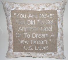 Cs Lewis Quotes | ... Pillow Inspirational Quote