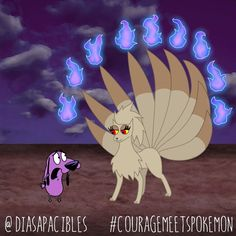 Courage the Cowardly Dog Meets a Ton of Pokémon in This Artist's Entertaining…