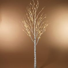 Decorative Lighted Birch Trees