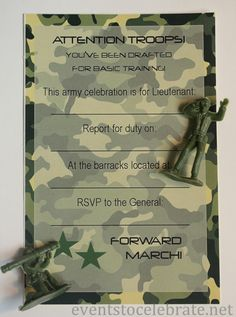 Army Invitation Free Printable - eventstocelebrate.net
