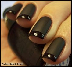 Perfect Black Nails