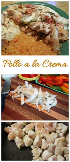 Pollo a la crema is one of my favorite Mexican meals. It is creamy and spicy and super easy to make. Pollo a la crema is one of my favorite Mexican meals. It is creamy and spicy and super easy to make. Hispanic Dishes, Hispanic Kitchen, Mexican Dishes, Mexican Food Recipes, Mexican Meals, Mexican Desserts, Dinner Recipes, Authentic Mexican Chicken Recipes, Dinner Ideas