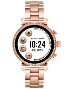 2ee002223c52 Michael Kors Access Women s Sofie Heart Rate Rose Gold-Tone Stainless Steel  Bracelet Touchscreen Smart