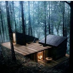 hotel arquitectura 12 moderne Huser mit schner Architektur und Natur - anders anders You are in the right place about Hotel architecture Here we offer you the m Cabins In The Woods, House In The Woods, Cottage In The Woods, Casas Containers, Forest House, Forest Cabin, Forest Cottage, Woodland House, Snow Forest