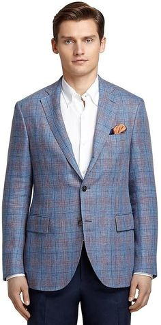 Brooks Brothers Blue and Red Plaid Sport Coat