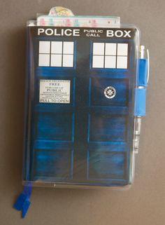 My Hobonichi Techo Planner 2014 with custom TARDIS cover