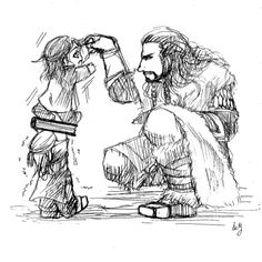 Baby Fili and Kili. @emilio@ <3 They're adorable.