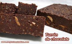 Turrón de chocolate, sin gluten, lactosa ni azúcar