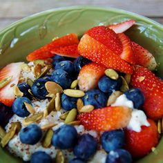 5 easy breakfasts bowls that are healthier than cereal (like this Morning Cottage Bowl). #healthyrecipes #breakfastrecipes #healthyeating #everydayhealth | everydayhealth.com