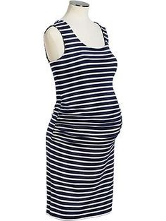 Maternity Striped Jersey Tank Dresses Large **Also there is a very similar dress at Target that would work, too.  Same size.  **