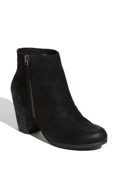 shipping and returns on BP. 'Trolley' Ankle Bootie at . A short side zipper accentuates the abbreviated style of a go-anywhere ankle bootie. Black Ankle Boots, Black Booties, Leather Ankle Boots, Black Leather, Fall Booties, Black Suede, Crazy Shoes, Me Too Shoes, Amo Jeans