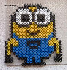 Bob Minion hama perler beads by Les Loisirs de Pat