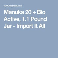 Manuka honey is sourced from the Manuka tree (Leptospermum scoparium) native to New Zealand. Manuka Tree, Manuka Honey, 1 Pound, Jar, Jars, Glass