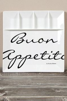 Buon Appetito Partition Plate €19.99 - Riviera Maison Shop