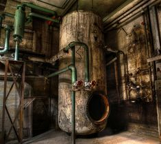 Image: Alessandro Sicco A Piece Of Machinery Stands Silently In The Corner, The Green Paint On Its Pipes Still Sound.