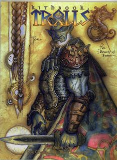 Kithbook: Trolls (Changeling - the Dreaming) Fantasy Rpg, Dark Fantasy, Fantasy Images, Magical Creatures, Fantasy Creatures, Spiderwick, Advanced Dungeons And Dragons, World Of Darkness, Fantasy Illustration