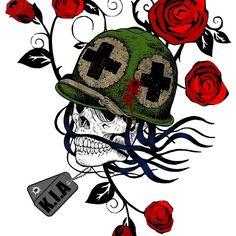 Day of the Dead Skull Design - KIA
