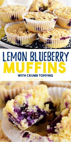 Personalized Graduation Gifts - Ideas To Pick Low Cost Graduation Offers The Bright Tang Of Lemon Mingled With Sweet Juicy Blueberries Makes These Lemon Blueberry Muffins Worth Waking Up For. The Crumb Topping Makes Them Over-The-Top Delicious Making Them Lemon Blueberry Muffins, Blue Berry Muffins, Blueberry Breakfast, Breakfast Muffins, Breakfast Recipes, Dessert Recipes, Breakfast Ideas, Brunch Recipes, Easy Recipes