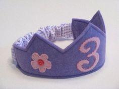 Polka Dot Birthday Supplies, Decor, Clothing: Handmade Felt Birthday Crowns