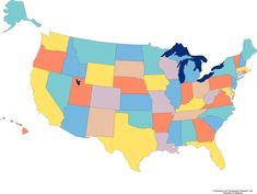Best A Literary Map Of America Images On Pinterest United - Map of america showing states