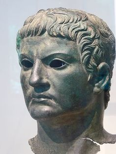 Bronze portrait of Marcus Agrippa found near the Arch of Augustus in Susa Italy Roman Julio-Claudian 1st century CE