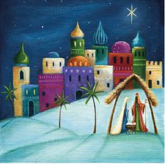 Away In A Manger - Cystic Fibrosis Trust Charity Christmas Cards