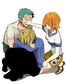 Zoro, Sanji, and Nami