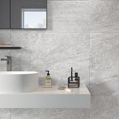 carrelage sol et mur gris effet b ton proton x cm leroy merlin salle de bain. Black Bedroom Furniture Sets. Home Design Ideas