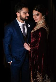 New Virat Anushka Wedding Pictures are here along with never seen before Wedding Teaser from Tuscany. Anushka Sharma Engagement, Engagement Saree, Engagement Dresses, Indian Engagement Outfit, Indian Wedding Couple, Indian Wedding Outfits, Indian Outfits, Indian Reception Outfit, Indian Celebrities