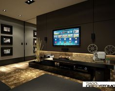 133 Home Theater Decor for Home Better Home Entertainment New Home Theatre, Best Home Theater, Theater Room Decor, Home Theater Rooms, Home Entertainment, Living Room Modern, Home Living Room, Home Theather, Living Room Partition Design