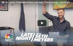 Justin Timberlake Performs New Talk Show Theme Songs #justintimberlake
