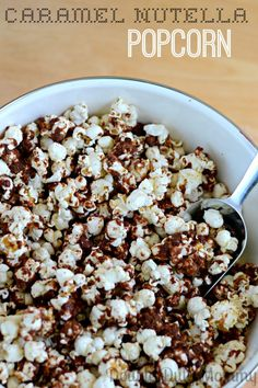 Caramel Nutella Popcorn Recipe via Double Duty Mommy >> #WorldMarket Dessert Recipes