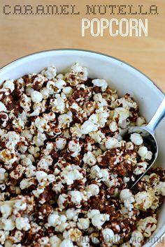 Caramel Nutella Popcorn Recipe via Double Duty Mommy >> #WorldMarket Dessert Recipes