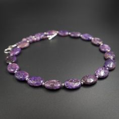 lepidolite necklace lepidolite jewelry by CretanHareCreations