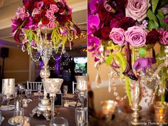 Purple Magenta with silver accent ~ modern jewel tones