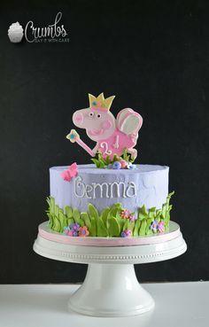 Cake Peppa Pig, Tortas Peppa Pig, Peppa Pig Birthday Cake, 3rd Birthday, Pig Party, Girl Cakes, Party Cakes, Let Them Eat Cake, Cupcake Cakes