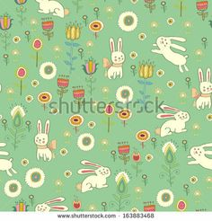 Background with Easter bunnies and eggs #Easter Inspiration from Shutterstock http://www.webdesign.org/easter-inspiration-from-shutterstock.22414.html