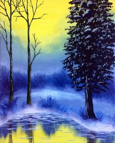 Misty Morning at Finn's Irish Pub - Paint Nite Events near Saskatoon, SK>