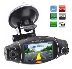 Cool+Gadgets+Dual+Camera+Hd+Car+DVR+Vehicle+Dash+Camera+w/+G-sensor+