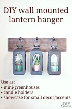 DIY wall mounted hanging lantern tutorial at diyshowoff.com