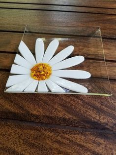 Daisy Fused Glass Plate