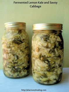 hmmm have never had fermented veggies Fermented Lemon Kale and Savoy Cabbage. These fermented vegetables will help heal your digestive system! Canning Recipes, Raw Food Recipes, Healthy Recipes, Probiotic Foods, Fermented Foods, Kombucha, Kefir, Kimchi, Sauerkraut