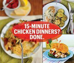 15-minute chicken dinner recipes