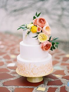 Peach and yellow wedding ideas
