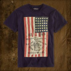 Flag Appliqué Tee - Denim & Supply  Tees - RalphLauren.com